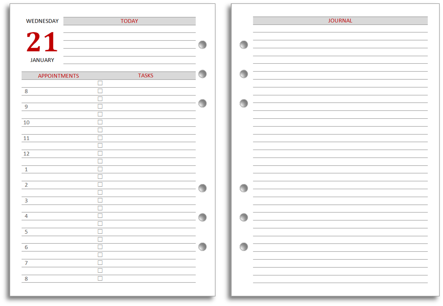 Free Printable Monthly Planner 5 12 X 8 12 | Search Results | Calendar ...