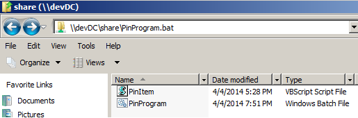 Pin Program/Items to Taskbar via GPO
