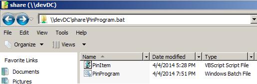 Pin Program/Items to Taskbar via GPO