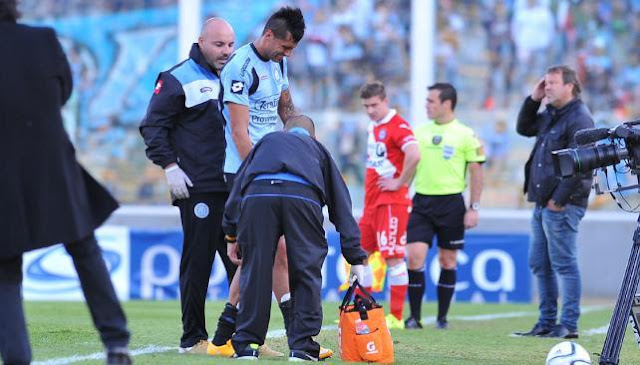 sergio escudero se retiro lesionado en belgrano de cordoba - noticias belgrano - temporada primera division 2015