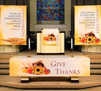 Thanksgiving Altar Cloths, pulpit scarves, paraments