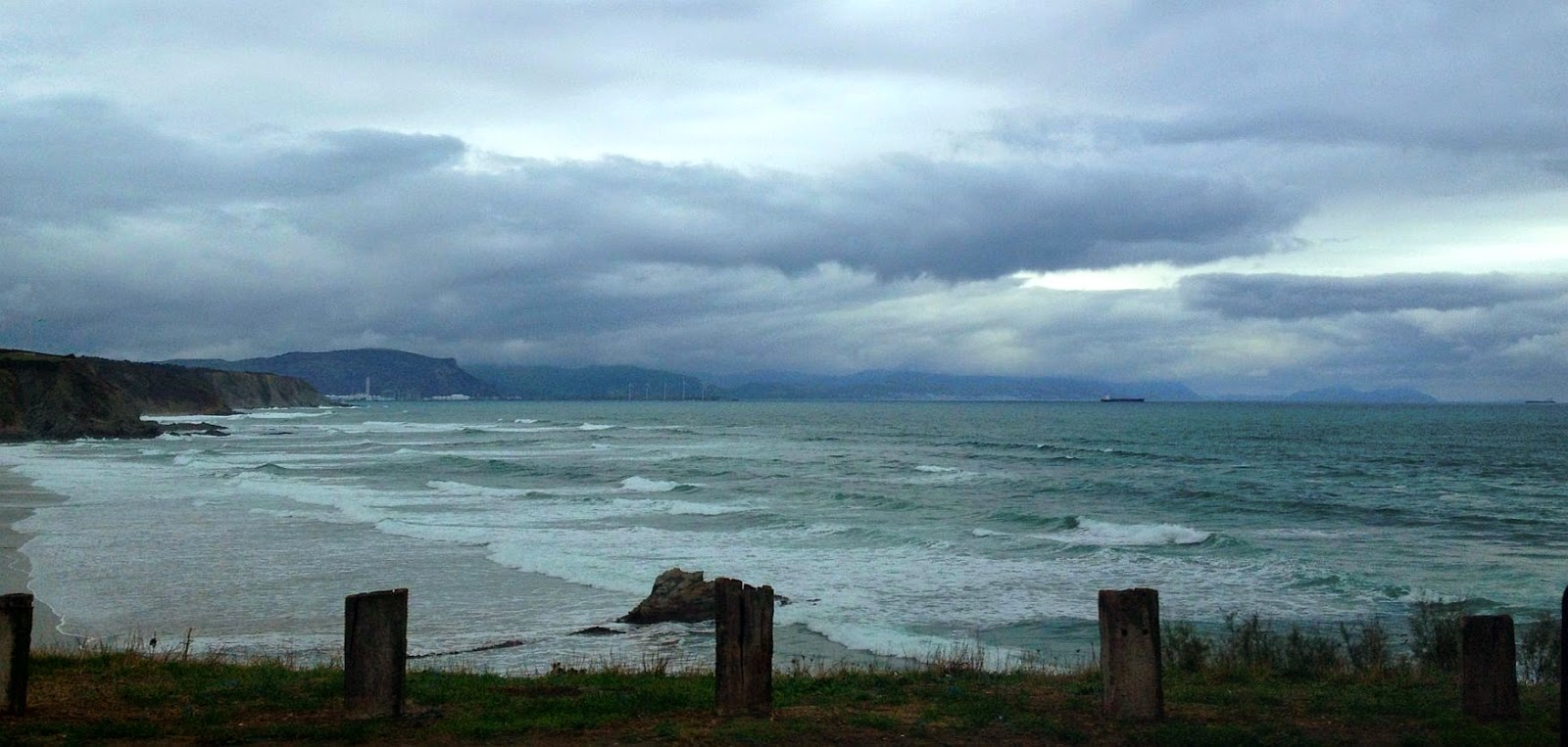 mal tiempo sopela playa