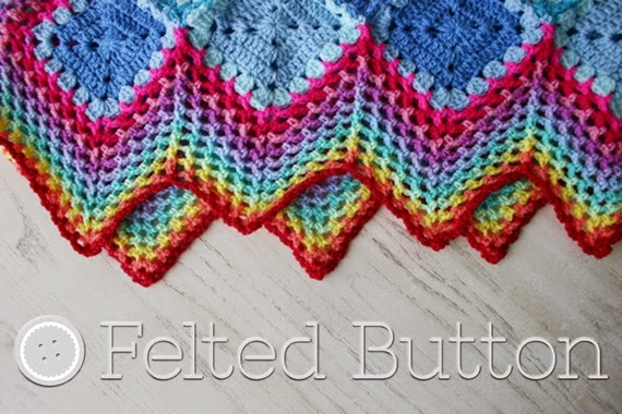 Felted Button Colorful Crochet Patterns Happiness Harlequins