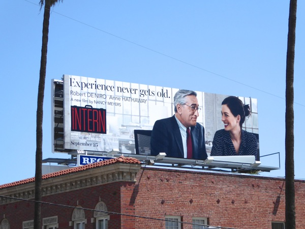 The Intern film billboard