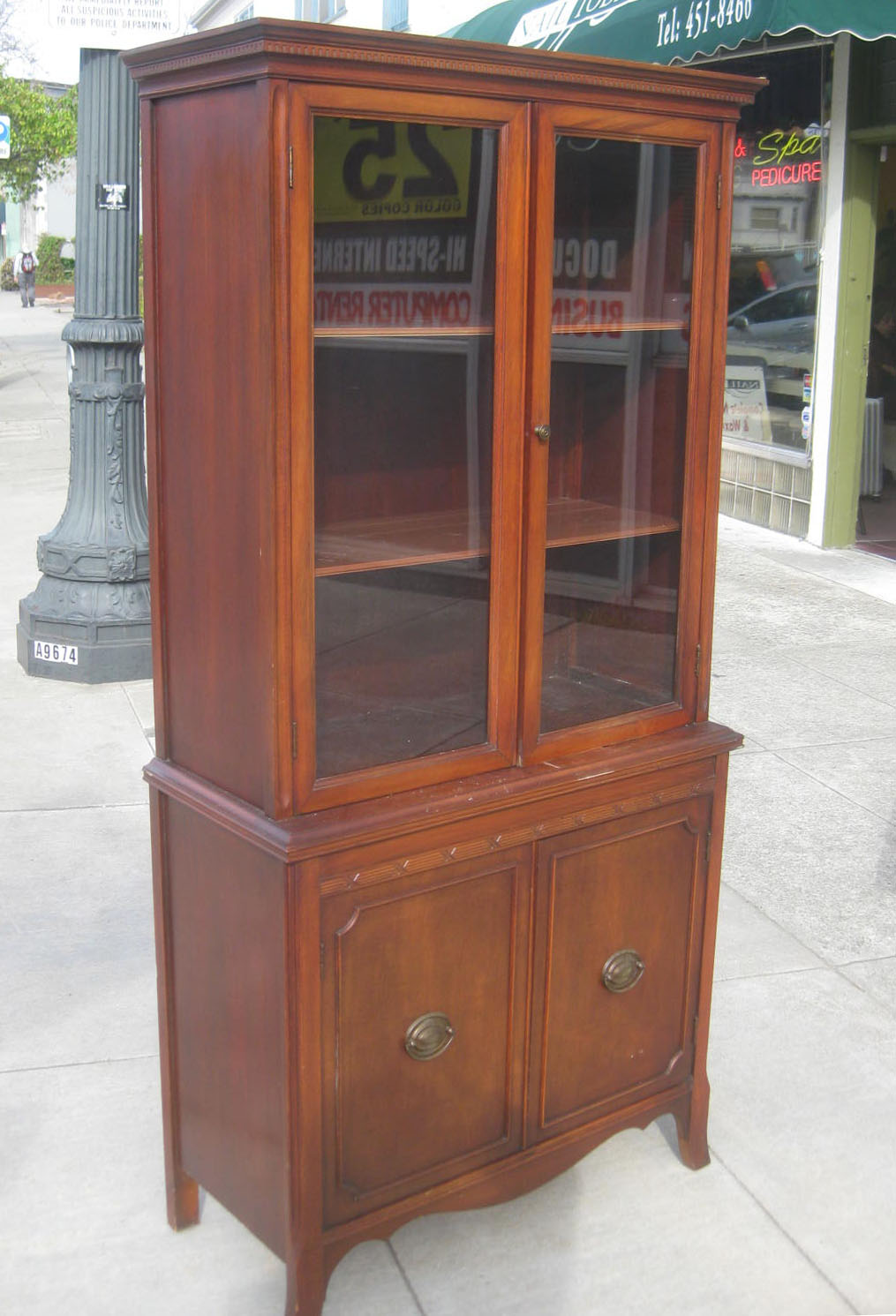 Furniture Stores China Cabinet 300 Set Solid Oak Wood