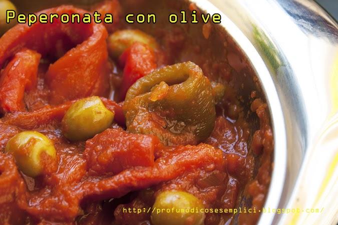 peperonata con olive