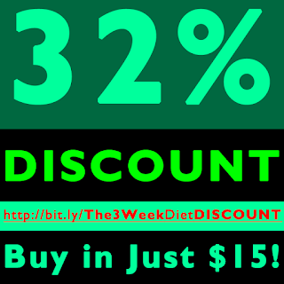 3 Week Diet DISCOUNT Offer - 32% Off - Just in $15!