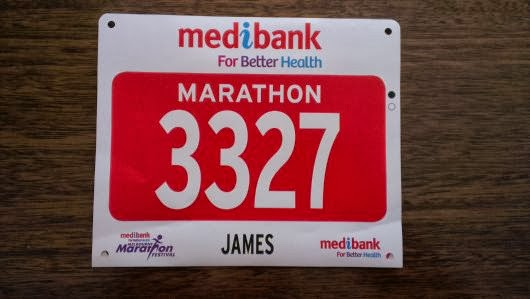 Melbourne Marathon race number