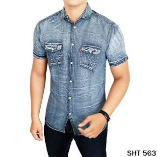 Kemeja Denim Soft Jeans