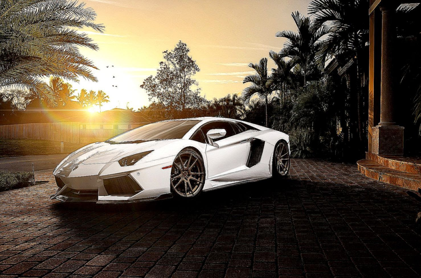 Lamborghini Wallpaper Hd White Awesome City | Best HD ...