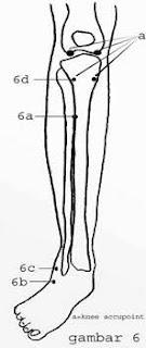 gambar titik pijat titik akupuntur refleksi kaki