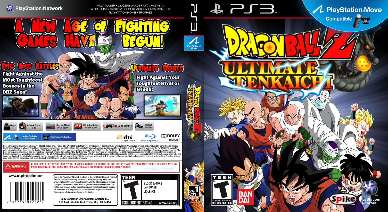 Capa Dragon Ball Z Ultimate Tenkaichi PS3 ~ Gamecover | Baixar de