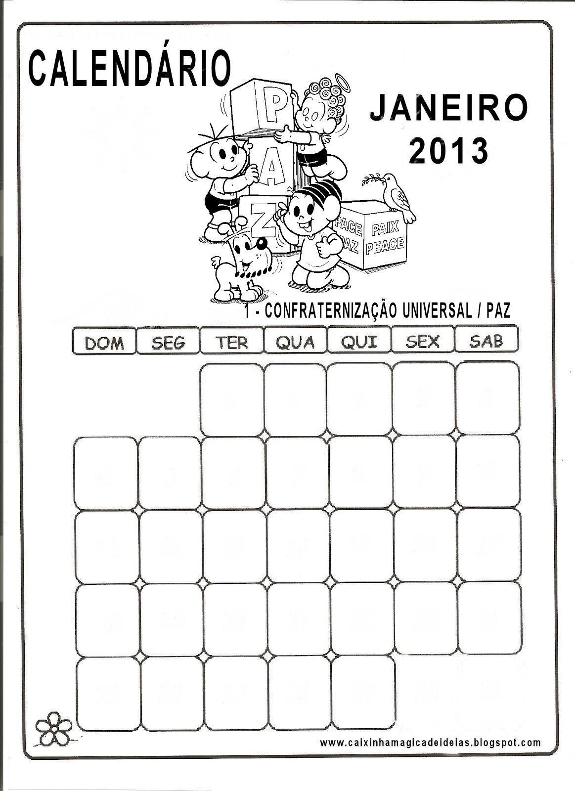 calendários 2013