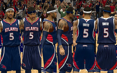 NBA 2K13 Atlanta Hawks Away Jersey Patch