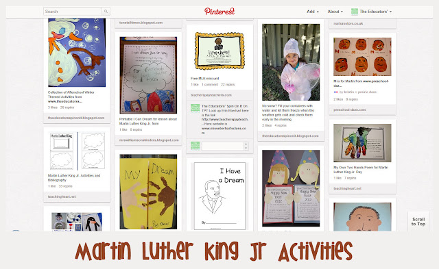 Using Pinterest to Find Activities for Dr. Martin Luther King Jr.