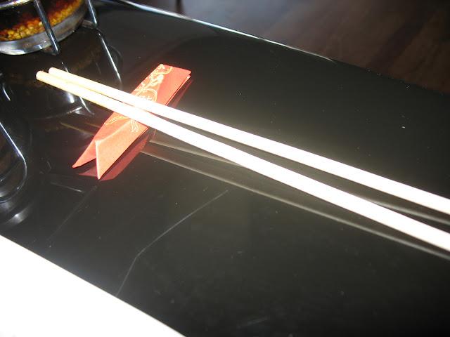 Chopstick rest made of the chopstick wrapper.
