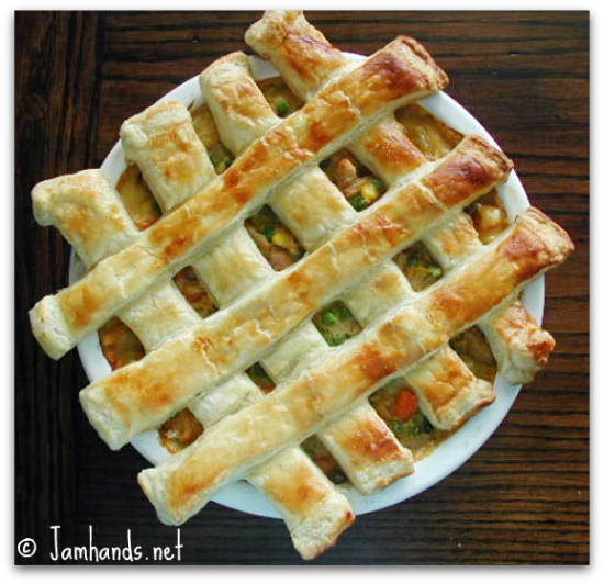 Jam Hands: Chicken Pot Pies with Puff Pastry