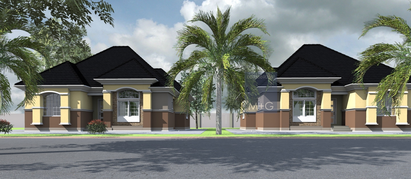 Modern luxury bungalow design pictures in nigeria joy for Luxury bungalow designs