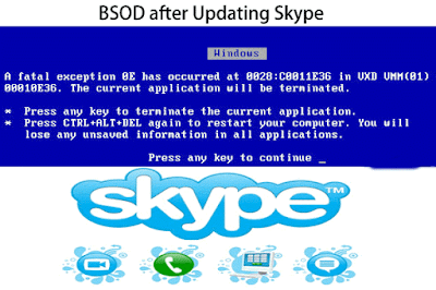 BSOD after Updating Skype
