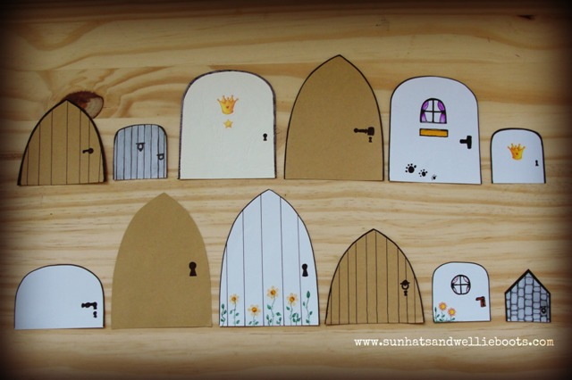 On some of the doors I added a little clue as to who might live behind them. Can you guess who may live here? & Sun Hats \u0026 Wellie Boots: Discover \u0026 Explore a Stroy with Mini Fairy ...