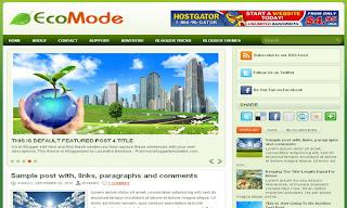 EcoMode Blogger Template