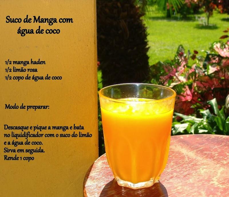 Suco de manga com água de coco
