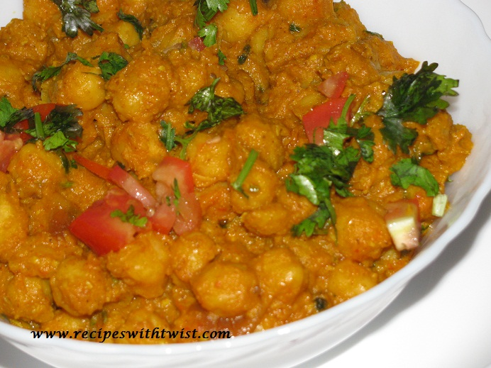 Chana Masala an Indian Chickpea Recipe. ~ Recipes with Twist
