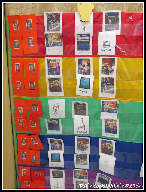 photo of: Work Station Assignments by photographs in Kindergarten