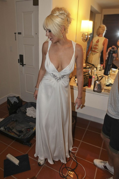 Lindsay Lohan @ Kim K.'s Weeding Party