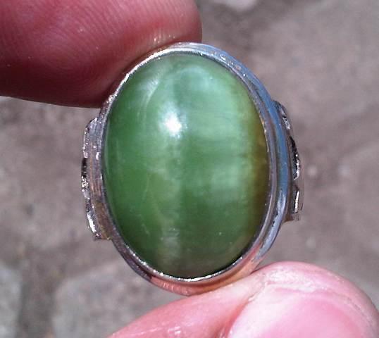 Koleksi Batu Antik: AK155- Batu Akik Pandan Hijau_SOLD