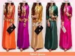Gamis Songket India Kombi Satin Silk SOLD OUT
