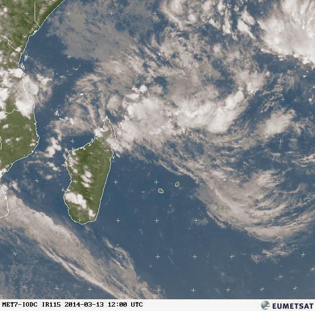 Image satellite météo Réunion