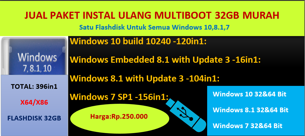 Jual Flashdisk Multiboot All In One 32gb Sumaterasoftware