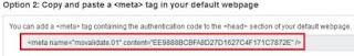 Meta tag bing webmastertool?