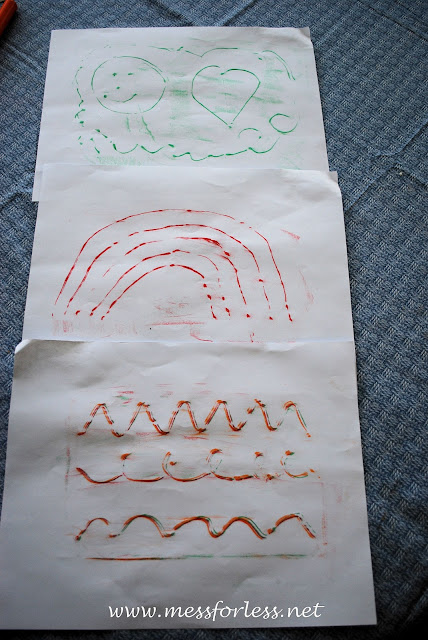 kids fun, crayon rubbing activity