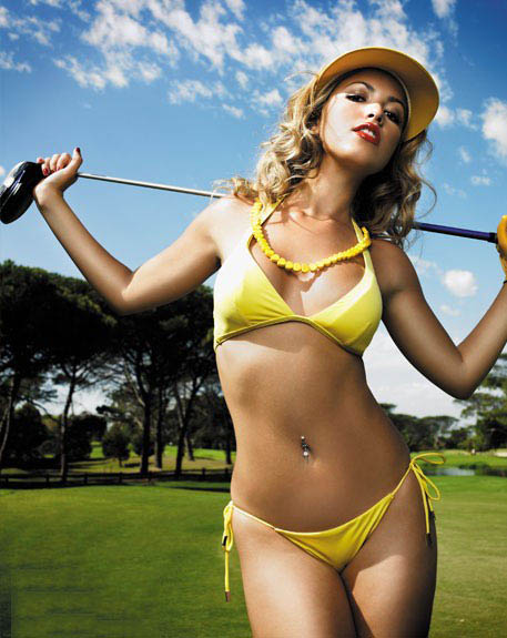 Sexy girls of golf