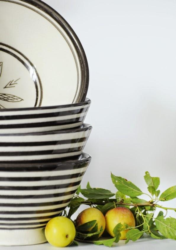 Ceramika black&white Tinek