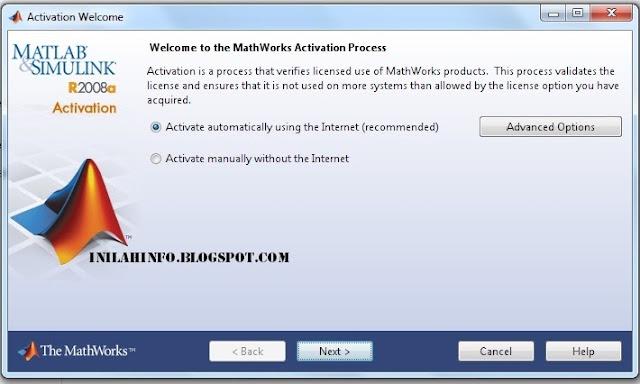 Aktivasi Matlab R2008a (Tampilan Halaman)