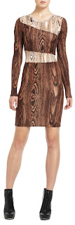 BCBG MaxAzria wood print dress