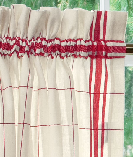 Red Black And White Kitchen Curtains (6 Image)