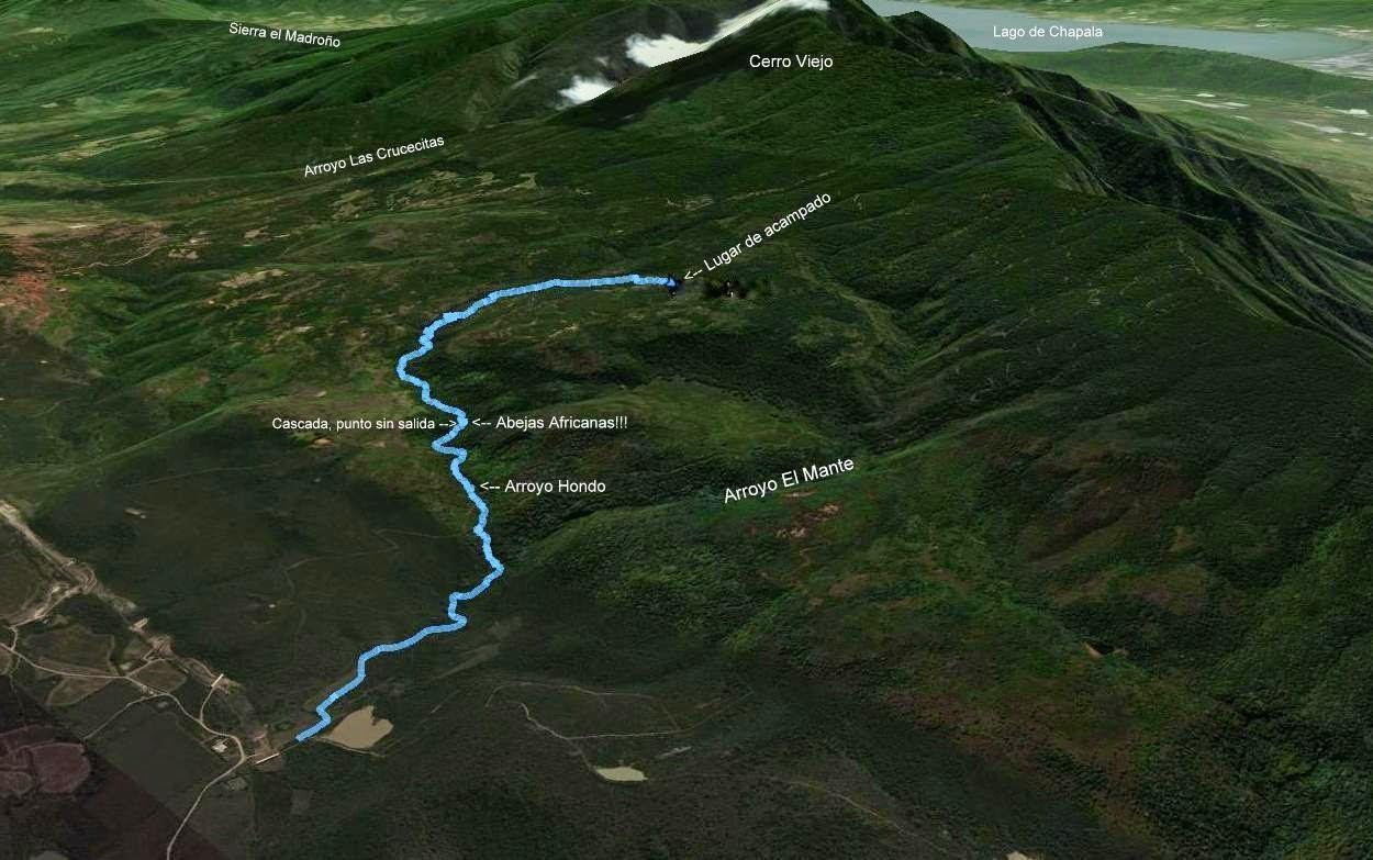 Ruta primer día por el Arroyo Hondo en Cerro Viejo