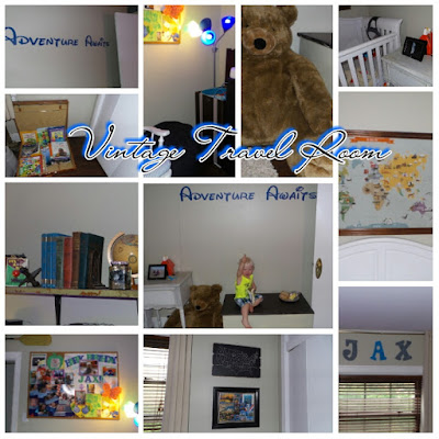 vintage room, baby room, baby boy room, travel themed room