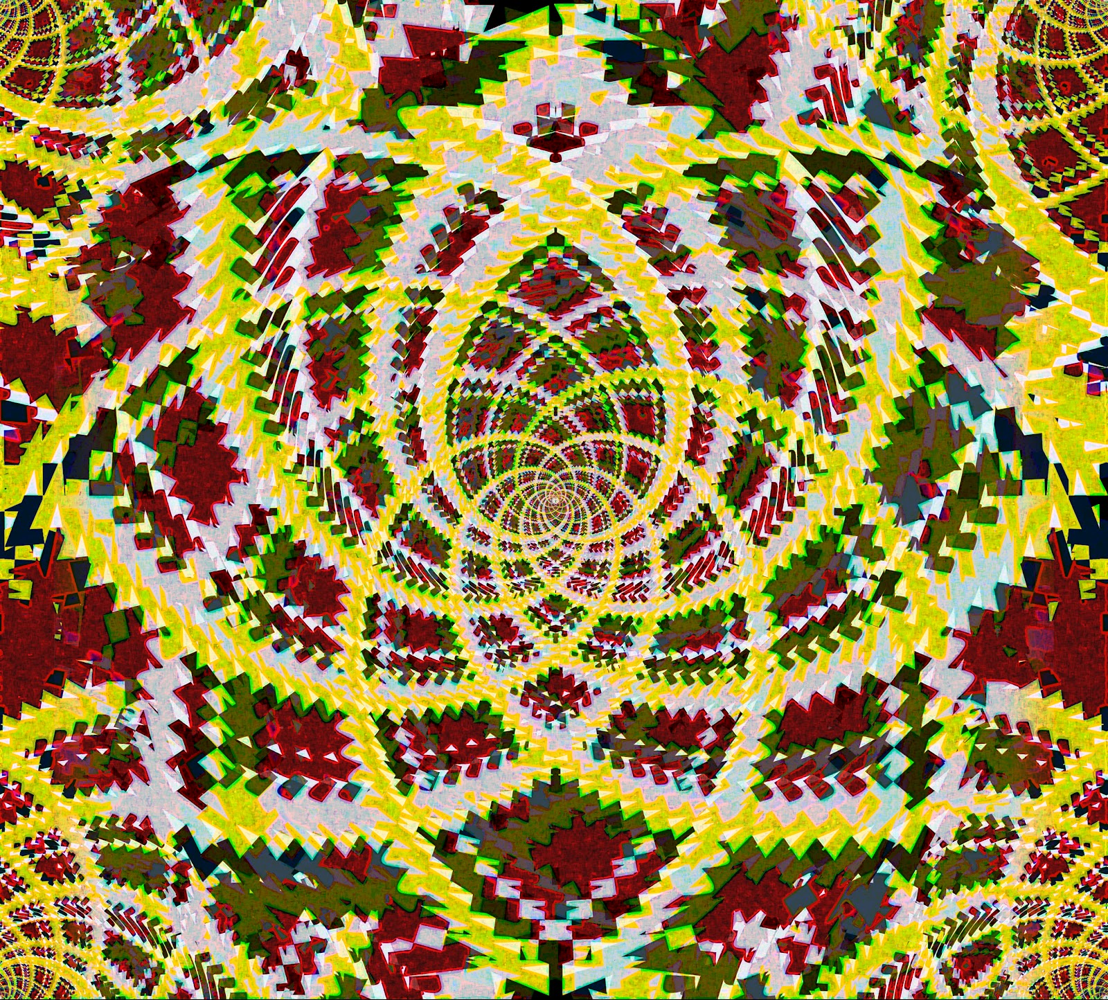 mandalas fractales patterns efectos visuales efectos opticos