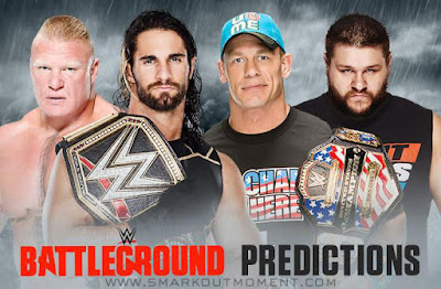 WWE Battleground 2015 pay-per-view predictions of results
