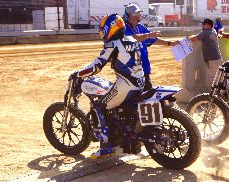 Stus Shots R Us  AMA Flat Track  Mikey Martin  91 Bonneville