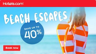 Beach Sale 40% off hotels