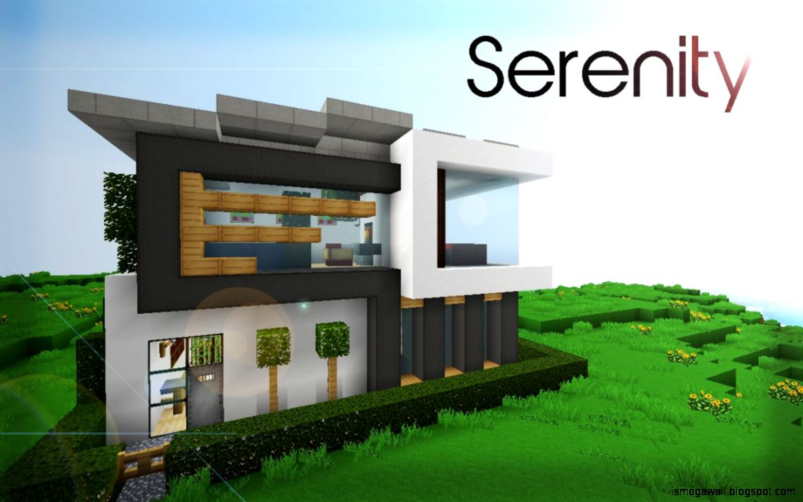 Minecraft Clasical Modern House | Mega Wallpapers