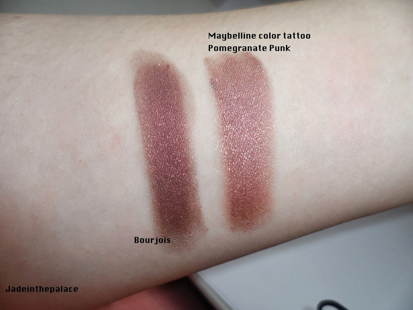 Jade in the palace prune nocturne for Maybelline color tattoo in pomegranate punk