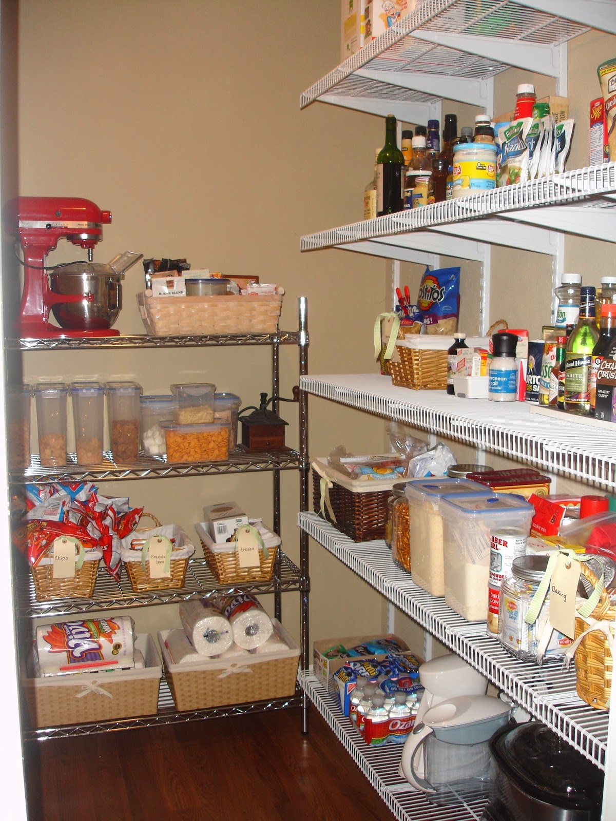the little cottage on the pond...: Organizing the pantry: then and ...