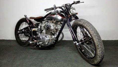 Modifikasi motor cb 100 jap style klasik mirip herlay